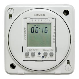 Intermatic FM1D20E-120 Electronic 24-Hour/7-Day Timer Module, Flush Mount, 15A, 120V, 50/60Hz