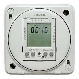 Intermatic FM1D20E-240 Electronic 24-Hour/7-Day Timer Module, Flush Mount, 15A, 240V, 50/60Hz