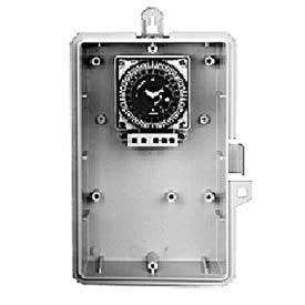 Intermatic GMXSW-O-24 7-Day, 21A SPDT Electromech Timer, NEMA 3R Outdoor Plastic Enclosure, 24V 60Hz
