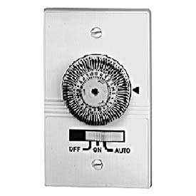 Intermatic KM2ST-2R 24-Hour, Electromechanical In-Wall Timer, 20A, 120V, White, 2 Gang Receptacle