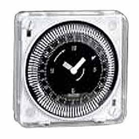 Intermatic MIL72EQTUZH-24 24-Hr, Electromech Timer, Flush Mount, w/Battery Backup, w/Override, 24V