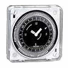 Intermatic MIL72ESTUZH-120 24-Hr, Electromech Timer, Flush Mount, Manual Override, w/o Battery, 120V