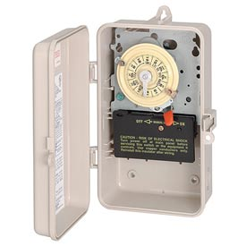 Intermatic T104P3 NEMA 3R - Time Switch In Plastic Enclosure, 208-277V, DPST, Beige Case