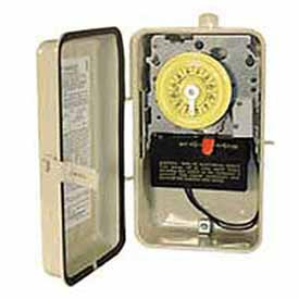 Intermatic T104R201 NEMA 3R - Time Switch In Metal Enclosure W/Heater Protection, 208-277V, DPST