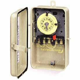 Intermatic T104R3 NEMA 3R - Time Switch In Metal Enclosure, 208-277V, DPST, Beige Case