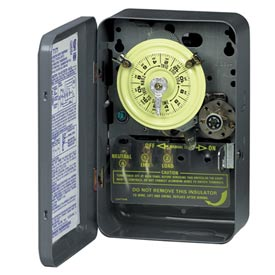 Intermatic T173CR NEMA 3R-24 Hour Dial Time Switch W/Skipper And Carryover, Steel Case, 125V, DPST