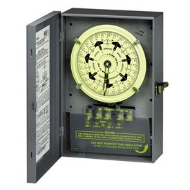 Intermatic T7802B NEMA1-7 Day Time Switch, Separate Clock Motor And Circuit Terminals, 208-277V