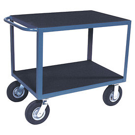 "Vinyl Matted Standard Handle Cart w/ 8"" Semi-Pneumatic Casters - 18 x 36"