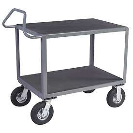 "Vinyl Matted Ergo Handle Cart w/ 8"" Pneumatic Casters - 24 x 60"