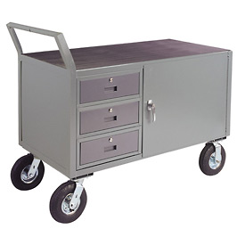 "Low Profile Cabinet Cart w/ 8"" Pneumatic Casters - 30 x 36"