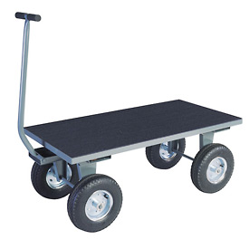 """Vinyl Matted Pull Wagon w/ 12"""" Rubber Casters - 24 x 48"""