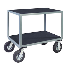 "Vinyl Matted No Handle Cart w/ 8"" Pneumatic Casters - 24 x 48"