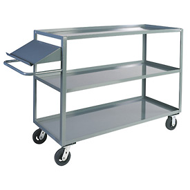 Jamco 3 Shelf Stock Truck with Writing Stand Handle CO236 24 x 36