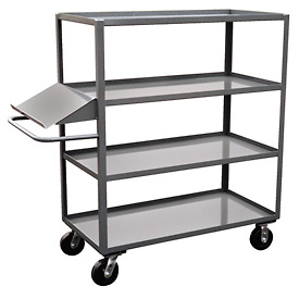 Jamco 4 Shelf Stock Truck with Writing Stand Handle DO336 30 x 36