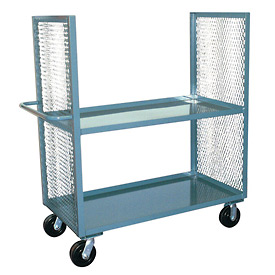 Jamco 2 Sided Mesh Truck EB248 with 2 Shelves 24 x 48