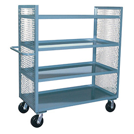 Jamco 2 Sided Mesh Truck ED248 with 4 Shelves 24 x 48