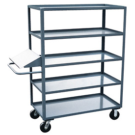 Jamco 5 Shelf Stock Truck with Writing Stand Handle EO372 30 x 72