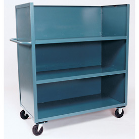 Jamco 3 Sided Solid Truck FC248 with 3 Shelves 24 x 48 3000 Lb. Capacity
