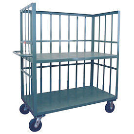 Jamco 3 Sided Slat Truck HB236 24 x 36 with 2 Shelves
