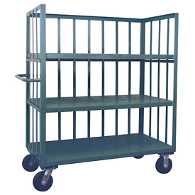 Jamco 3 Sided Slat Truck HC236 with 3 Shelves 24 x 36