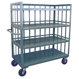 Jamco 3 Sided Slat Truck HD472 with 4 Shelves 36 x 72