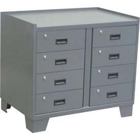 "Global™ Heavy Duty Security Cabinet JL136 - 8 Drawer, 36""W x 18""D x 33""H"