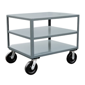 Jamco 3 Shelf Reinforced Mobile Table LE336 - 30 x 36 4800 Lb.