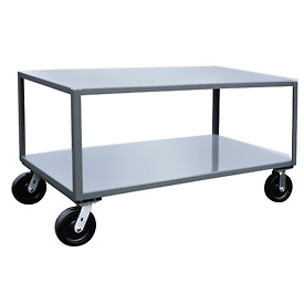 Jamco 2 Shelf Reinforced Mobile Table LW230 - 24 x 30 4800 Lb.