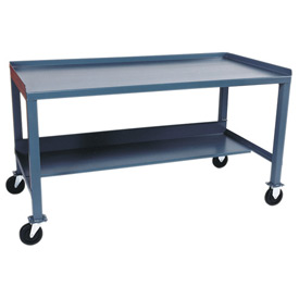 Mobile  Steel Workbench - 36 x 60
