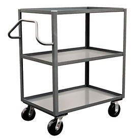 Jamco Ergonomic Handled 3 Shelf Stock Truck NC272 24 x 72