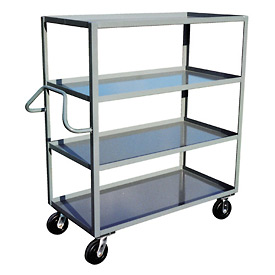 Jamco Ergonomic Handled 4 Shelf Stock Truck ND348 30 x 48