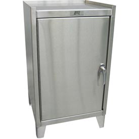"Global™ Stainless Steel Cabinet VY118 - 1 Door - 18""W x 18""D x 35""H"