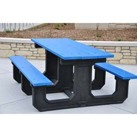Jayhawk Recycled Plastic 6 Ft. Park Place Picnic Table, Blue