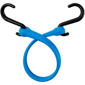 """The Perfect Bungee PBNH18 13"""" Bungee Strap With Nylon S Hook Ends (Overall Length 18""""), Blue - Pkg Qty 4"""