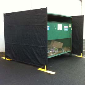 Dumpster Enclosure 3 Sided - 15' x 7-1/2'