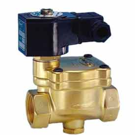 """Jefferson Valves, 2"""" 2 Way Solenoid Valve For General Purpose 24V DC Pilot Operated"""