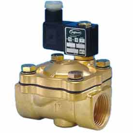 """Jefferson Valves, 1"""" 2 Way Solenoid Valve For General Purpose 24V DC Forged Brass Body"""