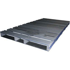 Rackable Extruded Plastic Pallet, 96x36, 4-Way Entry, 3000 Lb Fork Capacity