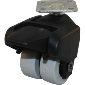 "Jacob Holtz X-CASTER 1-1/2"" Display Caster 1-1/2"" x 1-1/2"" Top Plate Brake TPR on Poly Core"