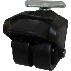 """Jacob Holtz X-CASTER 2"""" Display Caster 1-1/4"""" x 2"""" Top Plate Hard Rubber"""