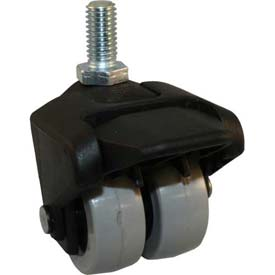 """Jacob Holtz X-CASTER 2"""" Display Caster 5/16""""-18 x 1-1/2"""" Threaded Stem Brake Poly on Poly Core"""