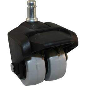 """X-CASTER 2"""" Display Caster 7/16"""" x 7/8"""" Friction Ring Stem (Steel Ring) Brake Poly on Poly Core"""