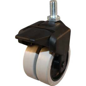 """Jacob Holtz X-CASTER 3"""" Display Caster 3/8""""-16 x 1"""" Threaded Stem Brake Poly on Poly Core"""