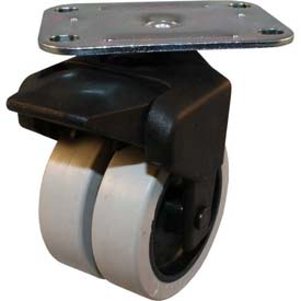 """Jacob Holtz X-CASTER 3"""" Display Caster 2-3/4"""" x 3-3/4"""" Top Plate Brake TPR on Poly Core"""