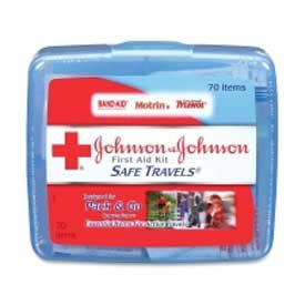 Johnson & Johnson First Aid Kit, Adhesive Bandages, 46 assorted, 70Pieces, Plastic