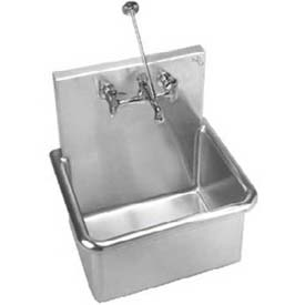 "One Compartment Service Sink, 14 Ga., 1 Hole, 12"" Basin, 20""L x 15""W Bowl, 1 Hole, Center, A18665-1"