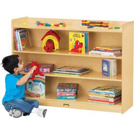 "Jonti-Craft® Mobile Bookcase with Top Ledge, 48""W x 15""D x 35-1/2""H, Birch Plywood"
