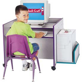 Jonti-Craft® Rainbow Accents® KYDZ CPU Booth - Gray Top/Purple Edge