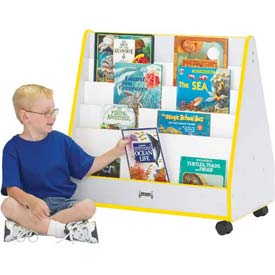 Jonti-Craft® Rainbow Accents® Mobile Pick-a-Book Stand - 1 Sided - Gray Top/Yellow Edge