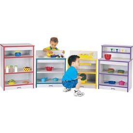 Jonti-Craft® Rainbow Accents® Toddler Kitchen Set - 4 Piece Set - Gray Top/Blue Edge